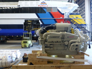 Hull Cutout Ready to Receive New Cummins 1300hp QSK38 Engine