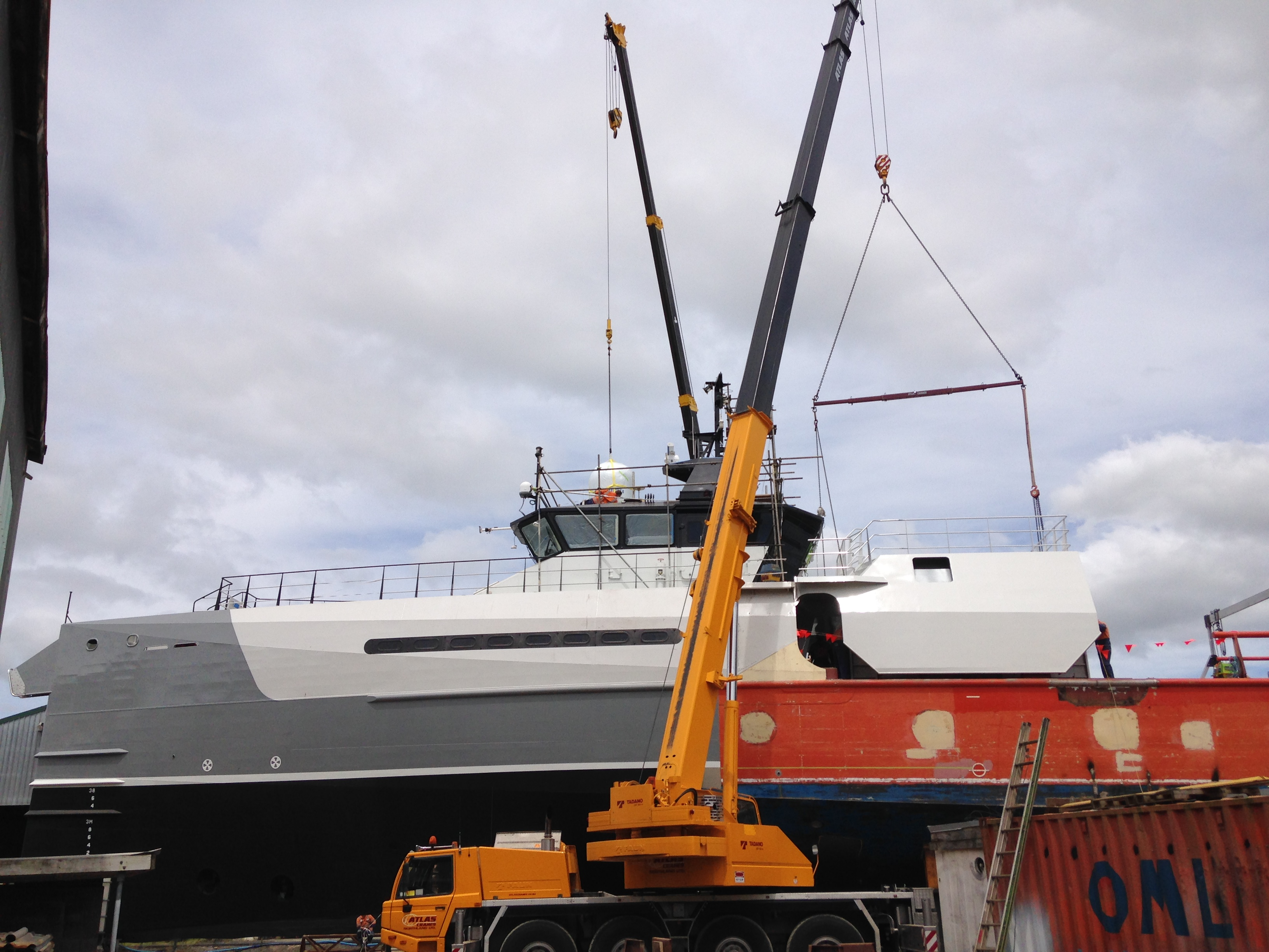 Oceania Marine - Submarine Garage  Fitted in Place